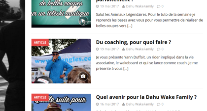 article de presse coaching wakeboard dahu wake family