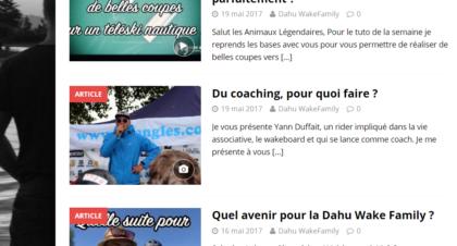 article de presse coaching wakeboard dahu wake family